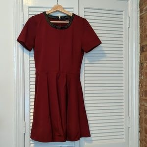 Madewell Burgundy Skater Dress M